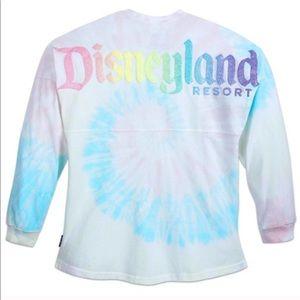 Rare Disney Cotton Candy Tie Dye Jersey Top
